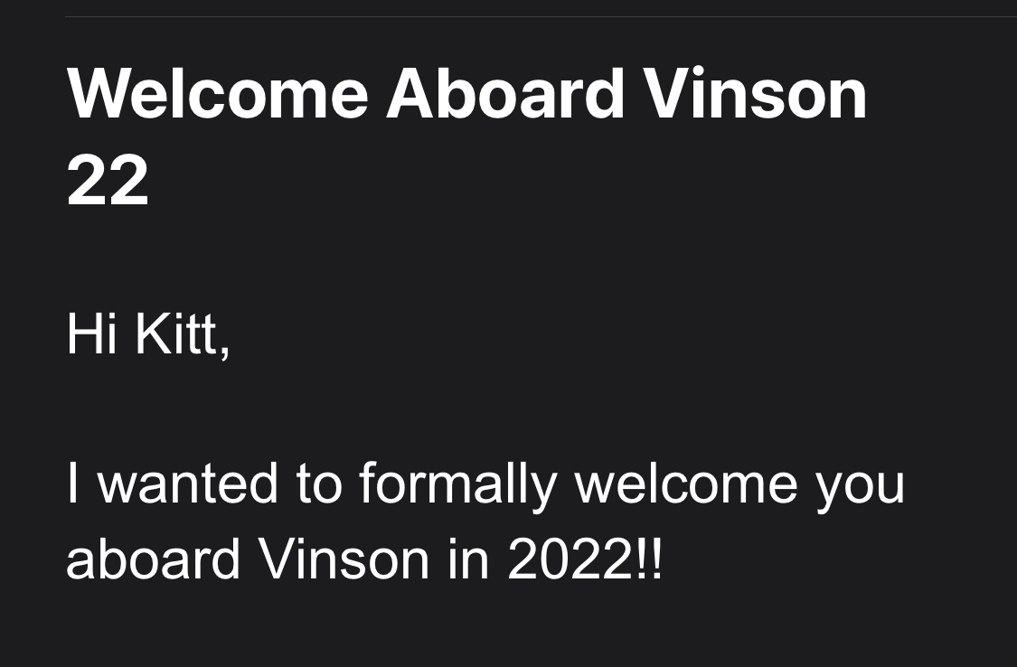 email screenshot of my acceptance into a mountain summit expedition